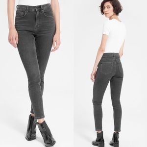 Everlane High Rise Skinny Jeans Washed Black